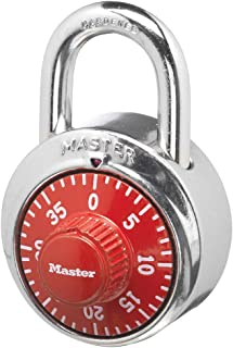 Master Lock 1504D Locker Lock Combination Padlock, 1 Pack, Red