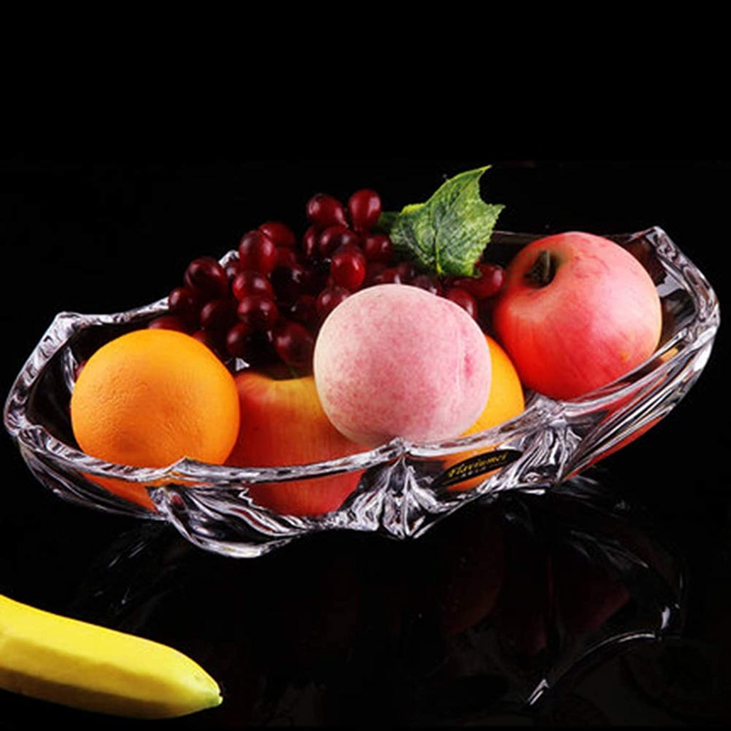 BEI-YI Assiette de fruits Assiette de fruits en verre simple Assiette de fruits Assiette de fruits Assiettes de fruits séchés Assiette de bonbons Assiette de fruits délicats Durable -64 Corbeille de f