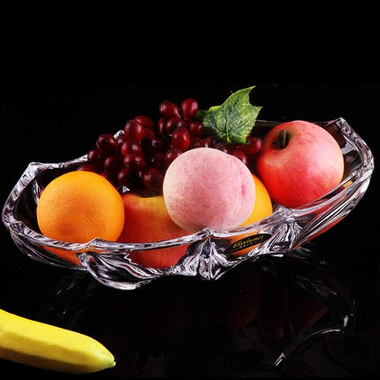 PANGU-ZC Assiette de fruits Assiette de fruits en verre simple Assiette de fruits Assiette de fruits Assiettes de fruits séchés Assiette de bonbons Assiette de fruits délicats Durable -157 Assiette de