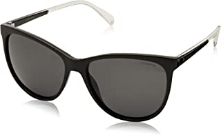 Polaroid Sunglasses Women's Pld4058s Polarized Cateye Sunglasses, BLACK, 57 mm