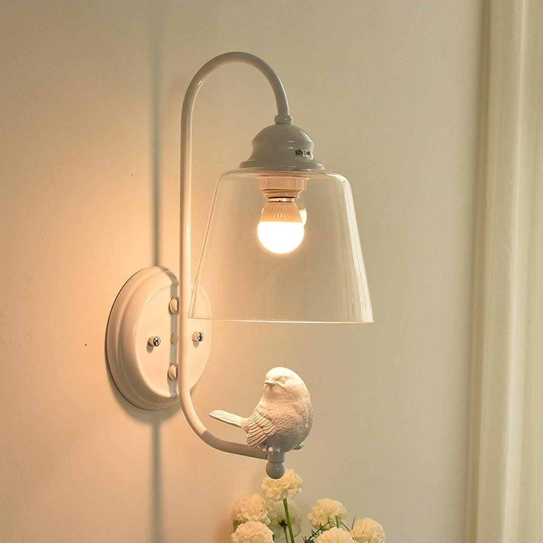 JU Nachttisch Wandleuchte Modern Einfache Gang Lampe Wohnzimmer Schlafzimmer Wandleuchte Glas Wandleuchte Kreative Vogel Wandleuchte