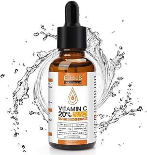Vitamin C Serum, Anti Aging Facial Serum, Hyaluronic Acid Serum for Skin, Intense Hydration, Moisture, Apply to Face-Dark ...
