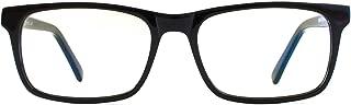 Pixel Eyewear Designer Computer Glasses with Anti-Blue Light Tint UV Protection, Anti-Glare, Full Rim, Acetate Frame Black Color - Buteo Style