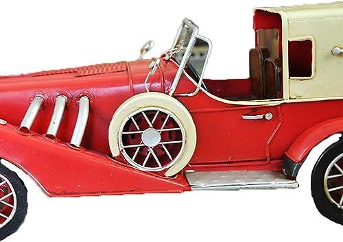 KWWA Weißlesemetallmodellsportauto-MetallWeißrot Klassische Oldtimerschwert,rot