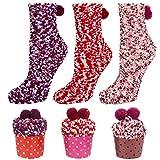 YSense 3Paar Cupcake Kuschelsocken Geschenk Box Damen Socken Weihnachtsgeschenke Valentinstag Geburtstagsgeschenk für Frauen, Freundin MEHRWEG