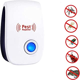 PERELER Ultrasonic Pest Repeller,Electronic Plug in Pest Control Indoor Use,Anti Rat/Spiders/Ants/Bat/Bed Bugs/Mosquitoes/Roaches/Wasps-1Pack, White