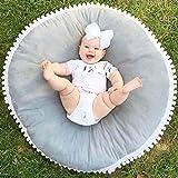 Fyore Kuschelige Hase Rund Krabbeldecke Gepolstert Spielmatte Groß Baumwolle Kinderteppich Babyzimmer Dekoration 80cm