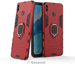 Cocomii Black Panther Armor Huawei Honor 8X Max/Enjoy Max Case New [Heavy Duty] Tactical Metal Ring Grip Kickstand Shockproof [Works with Magnetic Car Mount] Cover for Huawei Honor 8X Max (B.Red)