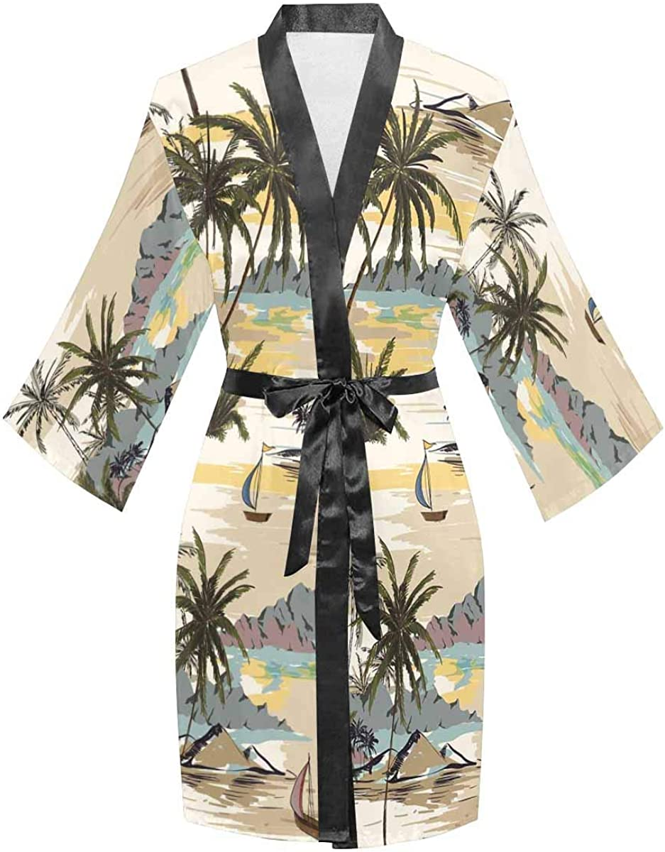 InterestPrint Women's Long Sleeve Kimono Year-end annual Factory outlet account Parties Bathrobe for We