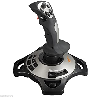 PC Flight Joystick Vibration Flying Simulator Gaming Controller (win7/win10) 4 Axles Flying