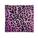 Phyllis Walker - Funda de Almohada Decorativa para sofá, Dormitorio, 45,7 x 45,7 cm, diseño de Leopardo, Color Rosa
