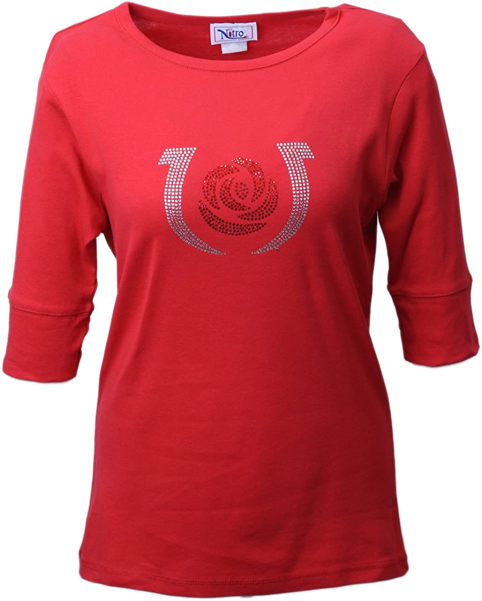 Officially Licensed Women's Kentucky Derby Clearance SALE Limited Seattle Mall time Half Sleeve Rose Top