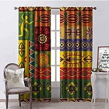 Tenda Per Porta Etniche Africa 80 Fili In Legno Con Decoro 120x240cm