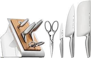 WMF 1882319992 Set de 5 Blocs à Couteaux, Acier, Argent, 37,5 x 22,5 x 19,5 cm
