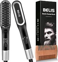 Beard Straightener, Belis Hair Beard Straightener Brush for Men 3in1 Quick Heated Beard Straightening Hot Comb - 3 Temp Settings for All Beard Hair Types