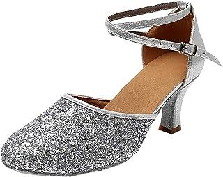 Zapatillas de Baile para Mujer/Zapatos de Lentejuelas/Tacón 5CM/7CM Modelo ES-1802