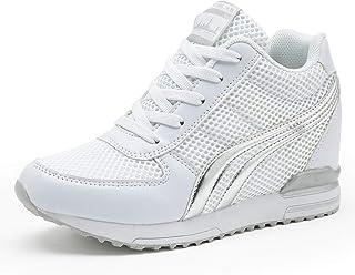 حذاء TQGOLD الرياضي النسائي بكعب عالٍ ورباط حذاء رياضي لزيادة أناقة النساء والفتيات