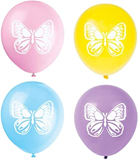 Butterfly Latex Balloons, 16-Pack 12inch Butterfly Baby Shower Or Birthday Party Balloon, Decorations, Party Supplies