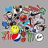 DZCYAN 100Pcs/Set Trend Logo Laptop Skateboard Luggage Car Shape Bicycle Motorcycle Graffiti Stickers PVC Waterproof