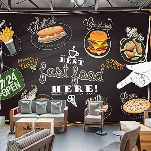 Tony plate Papel Pintado De Fondo con Foto De Personalidad Personalizada Mural Pizza Europea Tienda De Postres Pizarra Color Graffiti-430Cmx300Cm(169.3X118.1Inch)
