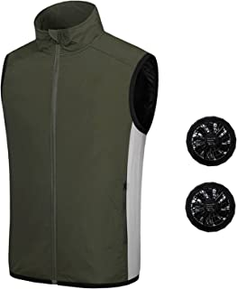 Summer Cooling Fan Vest Air Conditioning Clothes Electric Fan Cooling Vest USB Summer Hunting Hiking Fishing Coat for Men ...