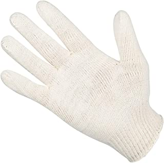Work Protective Gloves Wear-Resistant Cotton Breathable Protective Gloves, 10 Pairs (Color : White, Size : M-10 Pair)