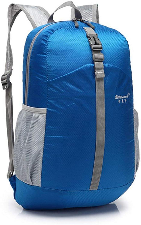 ArotOVL Im Freien faltender wasserdichter Wanderrucksack leichte verpackbare Sport-Klettern-Tasche (Farbe   Blau) B07MKBCZRS  Liste der Explosionen
