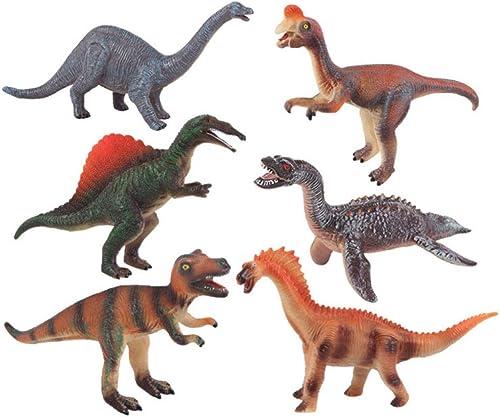 GIKMHYB Dinosaurier-Spielzeugsilikonsimulationsmodell-Tiersatz Der Kinder,B