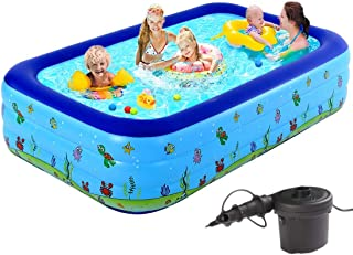 Generic Brands Inflatable Swimming Pools for Kids and Adults, Above Ground Swimming Pool for Family,Large Adult Inflatable...