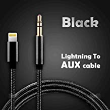 Lightning to 3.5mm Jack Male to Male Audio AUX Auxiliary Cord Cable for Apple iPhone 11 /11 Pro /iPhone 11 Pro Max /iPhone Xs /iPhone X Max /XS/XR /iPhone 6 6S /iPhone 7 8 Plus/iPod & iPad (Black)
