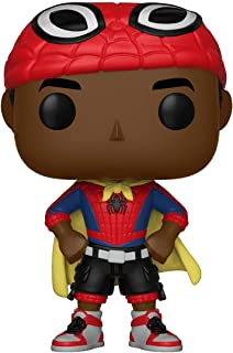 Funko Pop Marvel: Animated Spider-Man Movie Mile Morales with Cape Collectible Figure, Multicolor (33976)