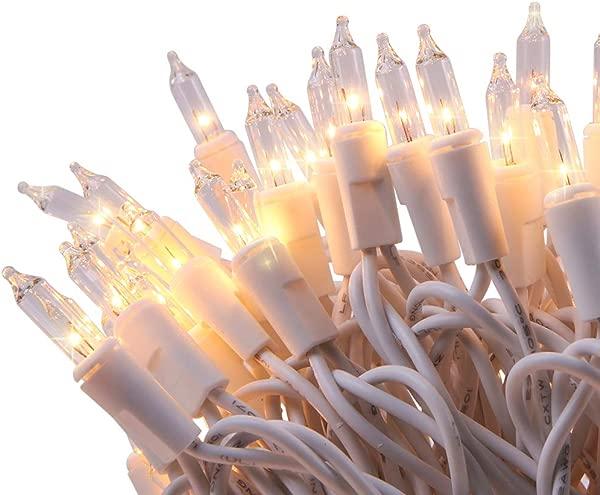 LIDORE 100 计数明亮清晰迷你圣诞树灯白色线串灯用于装饰端对端连接