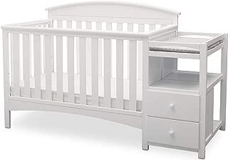 Delta Children Abby Convertible Crib and Changer, Bianca White