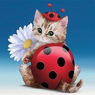 The Hamilton Collection Jasmine Becket-Griffith Cute As A Bug Kitty Kitten Ladybug Figurine
