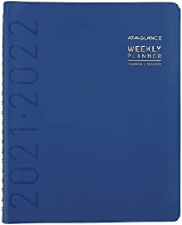 """Academic Planner 2021-2022, AT-A-GLANCE Weekly & Monthly Planner, 8-1/4"""" x 11"""", Large, for School, Teacher, Student, Conte... photo"""