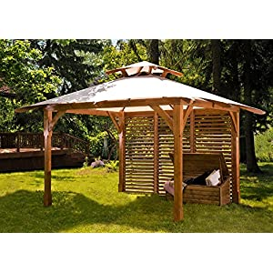 Kit Pergola 4.00x3.60 Postes 12 X 12: Amazon.es: Jardín