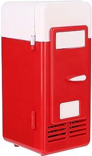 USB bilkylskåp, DC 5 V bärbar cool varm dubbel användning mini kylskåp inbyggda LED-lampor, ultratyst cool snabbt personli...