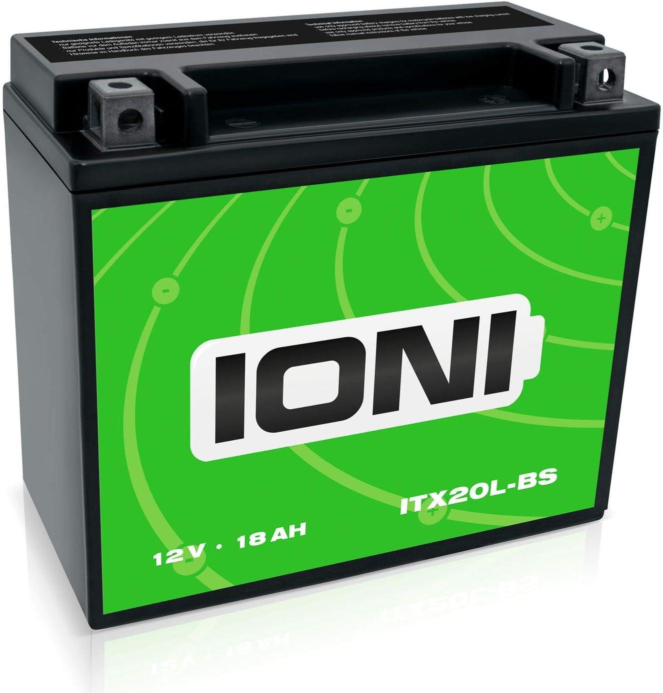 Ioni Itz7s 12v 6ah Agm Batterie Kompatibel Mit Ytz7s Ytz6s Mg7zs Versiegelt Wartungsfrei Motorradbatterie Auto