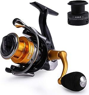 comprar comparacion Mounchain Carretes de Pesca, Spinning Carrete Pesca para Carpas Marinas y de Agua Dulce 14 + 1 Rodamientos de Bolas Pesca ...