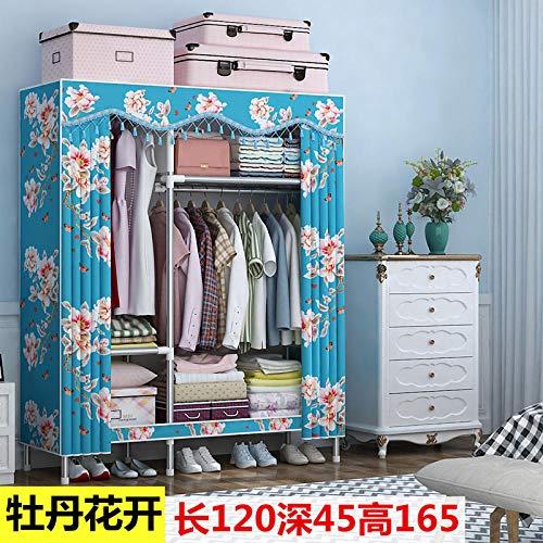 Treslin Piccolo Cabina Guardaroba,Canvas Wardrobe Simple Cloth Wardrobe Full Double Storage Artifact Wardrobe,Ideale per alloggi Universitari per Ospiti, ro
