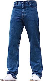 New Mens Jeans Basic Plain Heavy Duty Farmers Mechanics Denim Regular Straight FIT