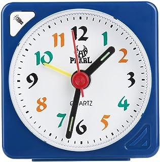 Fdit Kvarts väckarklocka liten lätt klassisk tickar ej batteridriven resebord timer för sovrum (blå)