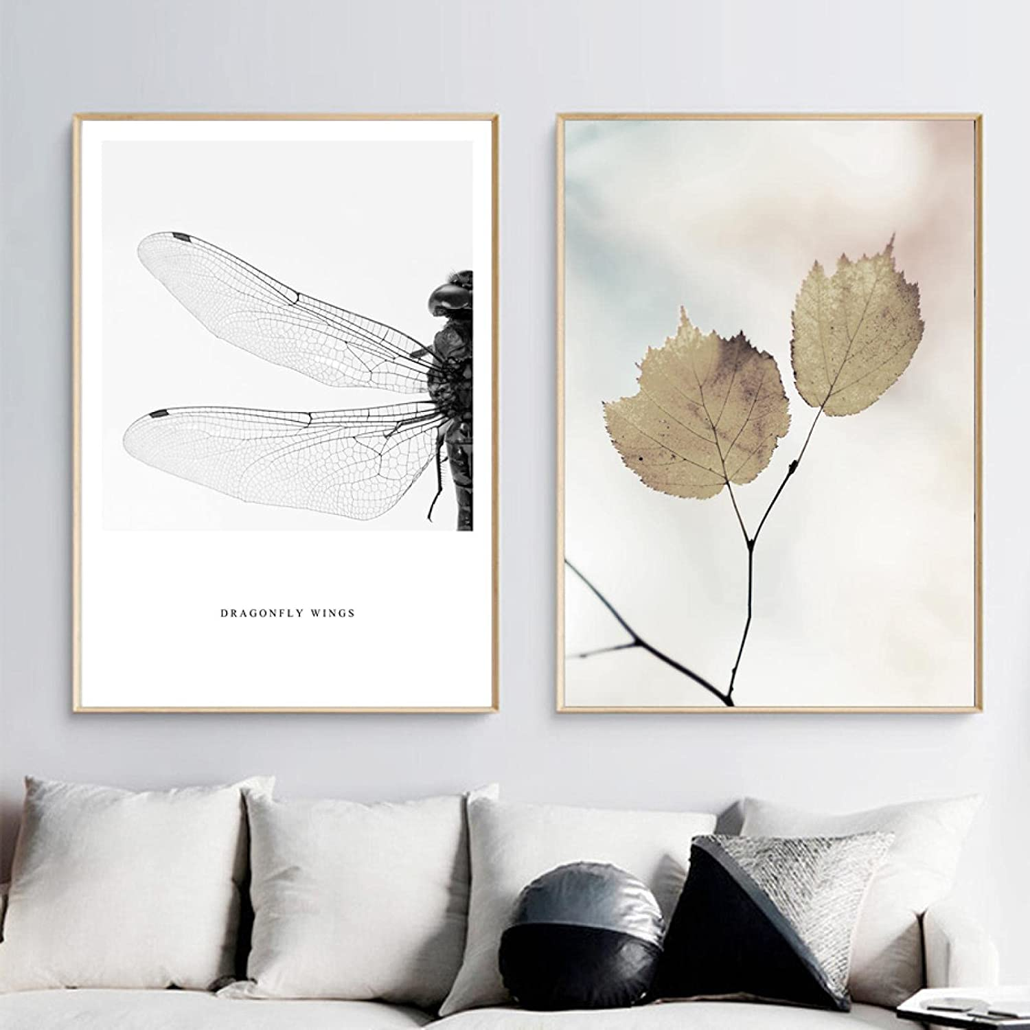 Print on Canvas Wall Art Painting N Dragonfly Animal Quotes Max 53% OFF Year-end annual account Leaf