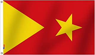 VAFLAG The Tigray Region Flag Region 1 Flag Star Flags 3x5 Ft - National Flag Vivid Color and UV Fade Resistant - Cool Out...