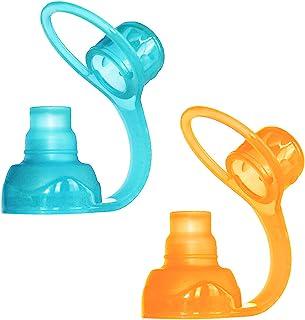 ChooMee Sip'n Soft Top - Orange and Aqua - 2 Count