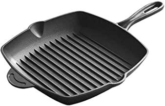 WZHZJ Frying Pan, Grill Pan Non Stick Skillet Breakfast Pan Meal Skillet Aluminum Griddle Divided Pan, Suitable for Gas In...