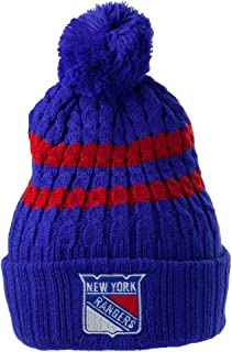 0c3a43235947cf American Needle New York Rangers NHL Bluebird Cuffed Pom Beanie Knit Hat