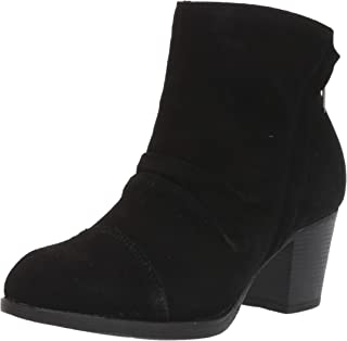 Women's Taxi-Uptown Funk-Suede Ruched Short Ankle Boot with Side Zipper