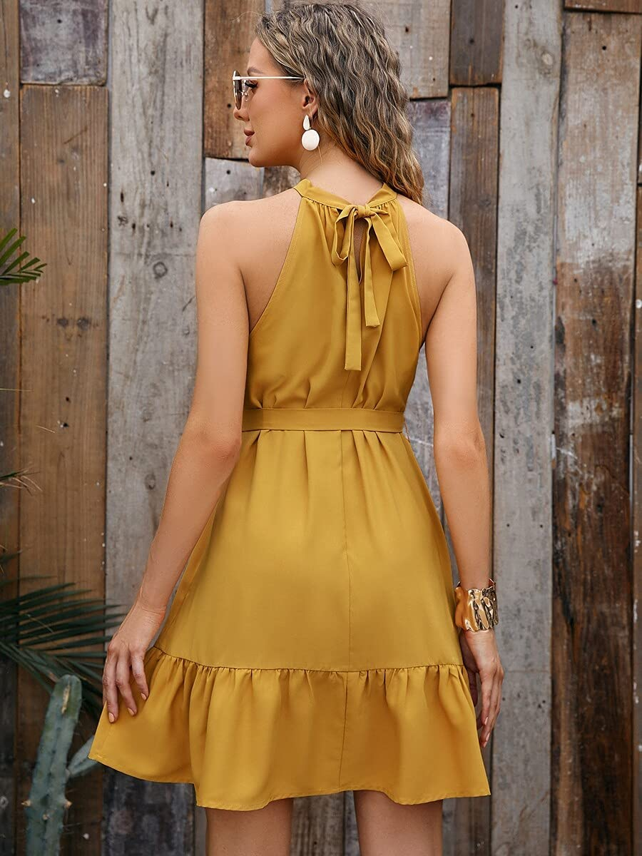 Shreem85 Maternity mart Dress Tie price Co Ruffle Back Hem