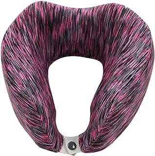 Travel Pillows Memory Cotton U-Shaped Pillow Portable Travel Pillow Care Cervical Neck Pillow Foldable Neck Pillow(Color) Foldable (Color : Purple, Size : 23 * 23 * 12cm)